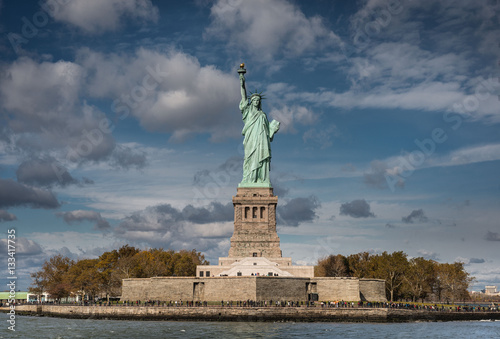 Fotografie, Obraz  Front view of the Statue of Liberty, New York