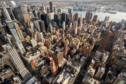 Fototapeta Panorama starych drapaczy chmur w Nowym Jorku