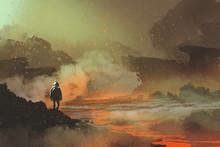 Astronaut Standing In Abandone...