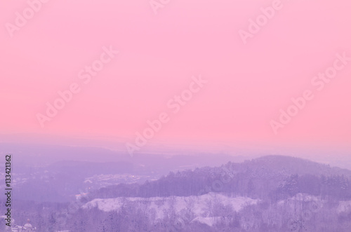 Photo Stands Candy pink Landscape in the Ukraine