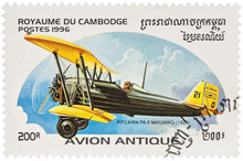 Airplane Pitcairn PS-5 Mailwing (1926) On Postage Stamp
