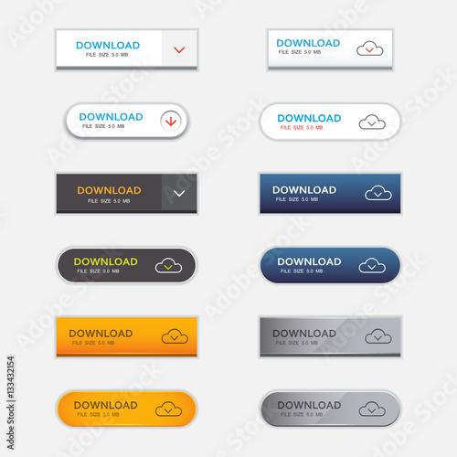 Fotografía  Set of download buttons