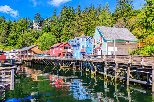Canvas Prints American Famous Place Ketchikan, Alaska.