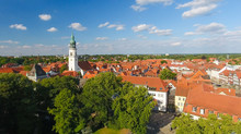 Aerial View Of Celle Skyline F...