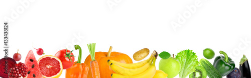 Poster Fruit Color fruits and vegetables