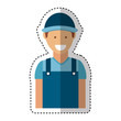 mechanic avatar character icon vector illustration design