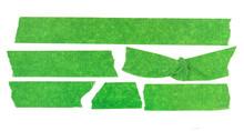 Set Of Green Masking Tape Pieces