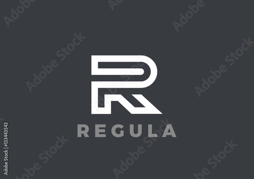 Photo  Letter R Logo Luxury design Linear. Type Character Logotype