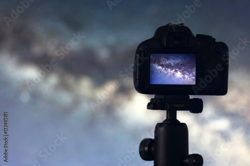 Astrophotography. Space Astronomy Long exposure photography.