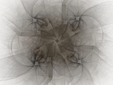3d rendering with gray abstract fractal pattern - 133446147