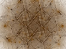 3d Rendering With Brown Abstract Fractal Pattern