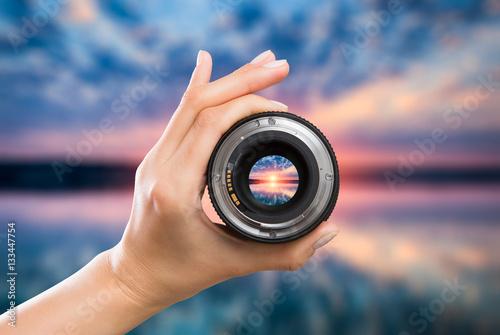 Fotografiet  Photography camera lens concept.