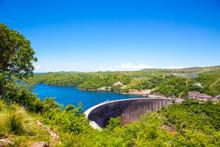 Kariba Dam Wall Higher View.  ...