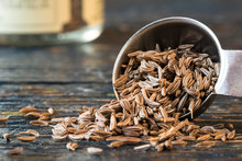 Caraway Seeds Spilled From A T...