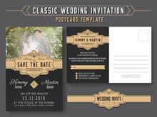 Classic Vintage Wedding Invita...