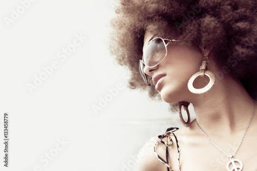 Photographie  Retro Grirl Profile