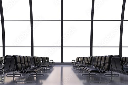 Fototapety, obrazy: empty seatsn in airport