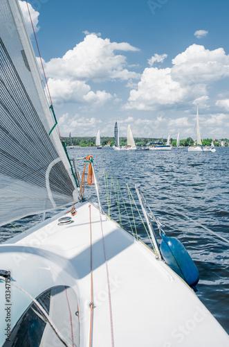 Papiers peints Nautique motorise Sailing yacht race, regatta.