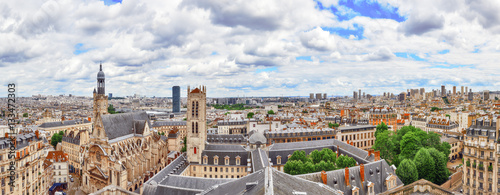 Valokuva  Beautiful panoramic view of Paris from the roof of the Pantheon.