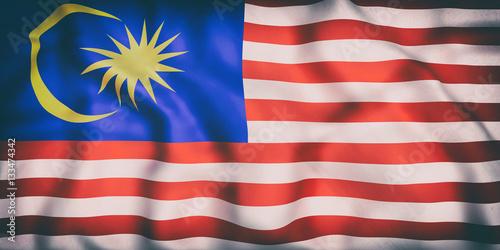 Malaysia flag waving Canvas Print