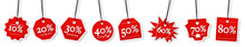 Concept Of Percentage Label For Sales Promotion