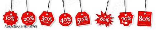 Fotomural Concept of percentage label for sales promotion