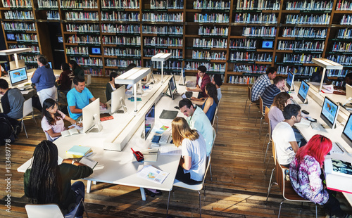 Photo Technology Library Student Learning Concept
