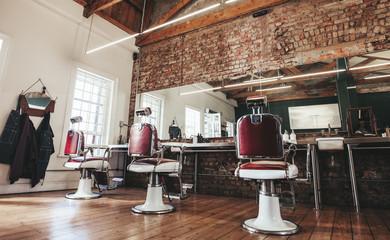 Retro styled barbershop.
