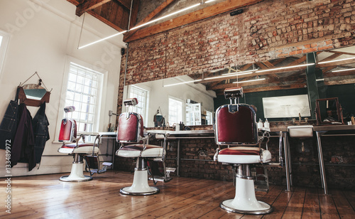 Retro styled barbershop.