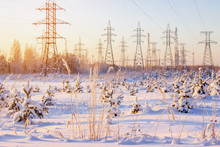 High Voltage Power Lines In Th...