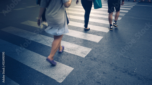 Motion of pedestrian zebra crossing or crosswalk in asia Fototapet