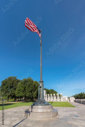 American flag in Washington DC. Tableau sur Toile