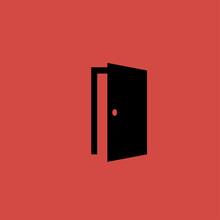 Door Icon. Flat Design