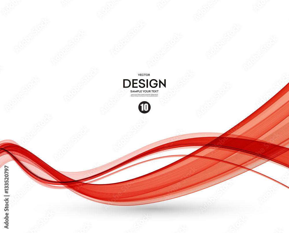 Abstract red wavy lines