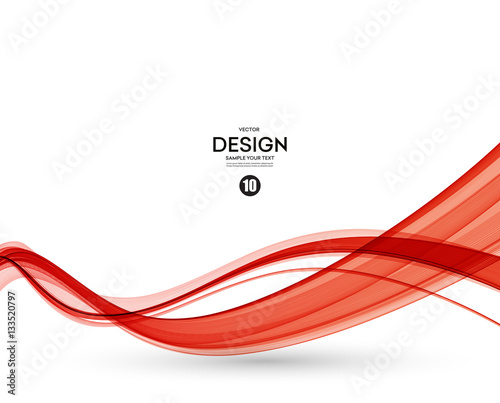 Fototapeta Abstract red wavy lines obraz