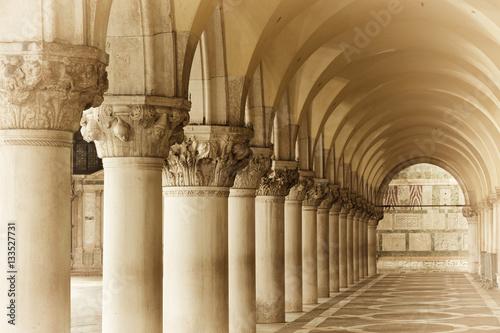 Fotografie, Obraz  Classic column in Venice, Italy