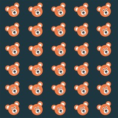 Pattern for children - cute teddy bear
