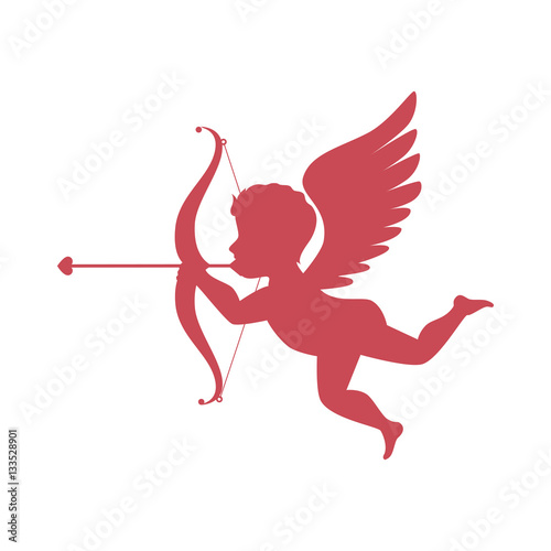 Fotografía cupid angel love card vector illustration design