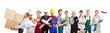 canvas print picture - Gruppe mit vielen verschiedenen Berufen