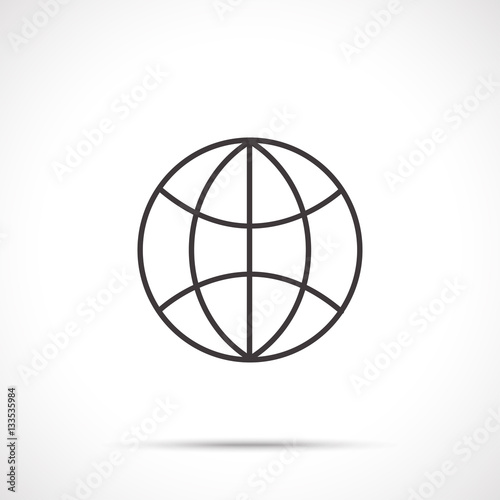 Globe icon  Internet icon  Web icon  Worldwide symbol - Buy