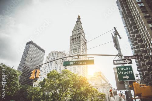 Foto op Aluminium New York Broadway sign, New York