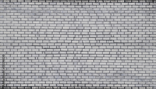 Garden Poster Brick wall The texture of wall from a variety of old and dirty brick. Detailed pattern of a plurality of different sizes of brick white worn out