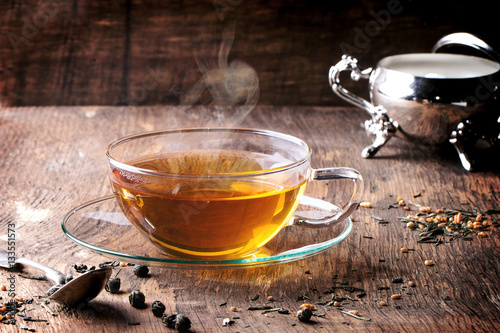 Wall Murals Tea Cup of hot tea
