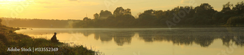Foto auf Gartenposter Fischerei Fishing early in the morning.