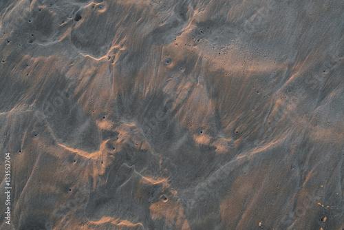 Poster Marron chocolat texture of wet sand