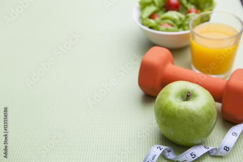 Fotografie, Obraz  Healthy Diet Fitness Background