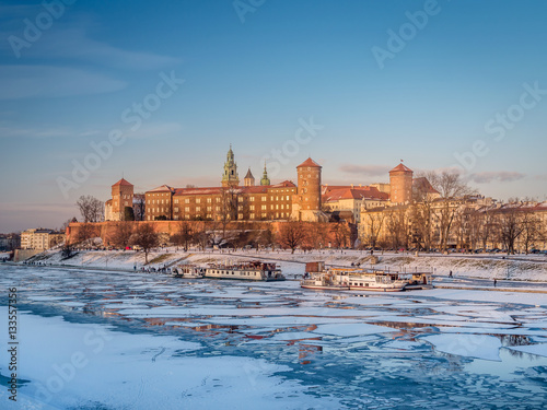 Wawel Castle in winter time