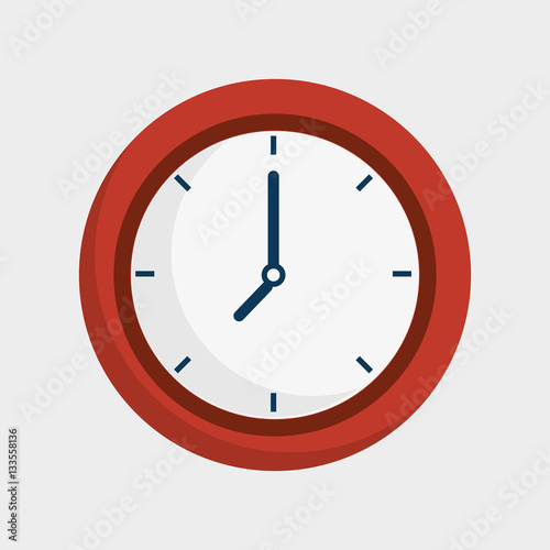 Fotomural  time clock isolated icon vector illustration design