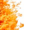 Leinwandbild Motiv Splash of orange paint