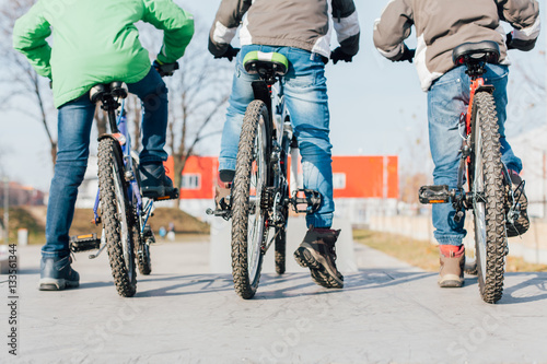 Deurstickers Fiets Bike riders